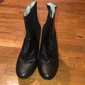 Black INC Fur/Leather Boots
